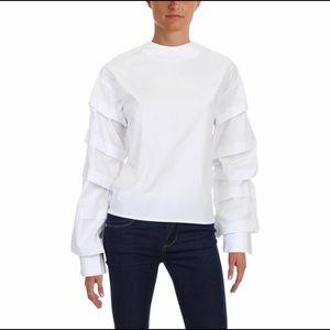 Style Mafia tiered long sleeve blouse